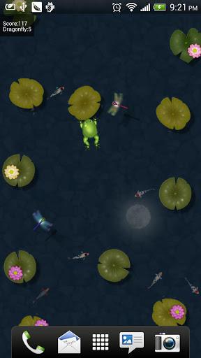 荷塘青蛙动态壁纸 手机乐园