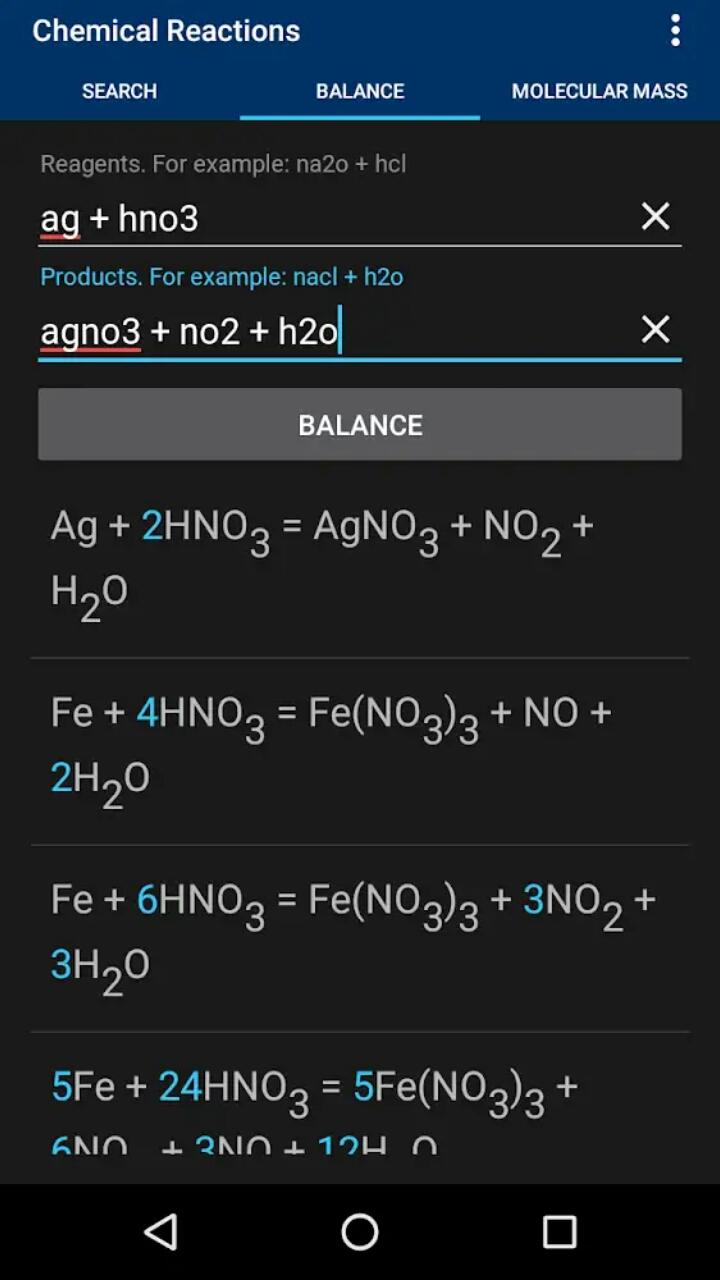 化学反应 v1.0.9截图