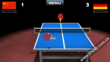 3D虚拟乒乓球图